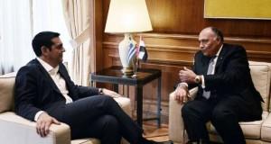 وزير الخارجية المصري يلتقي رئيس وزراء اليونان في أثينا